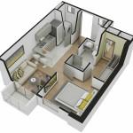 Isometría Apartamento Tipo 4