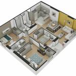 Plano Apartamento Tipo 4