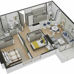 Isometría Apartamento Tipo 6