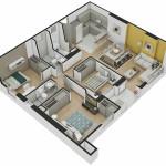 Isometría Apartamento Tipo 7