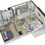 Isometría Apartamento Tipo 8