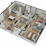 Isometría Apartamento Tipo 9