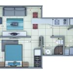 Plano Apartamento Tipo 1