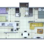 Plano Apartamento Tipo 2