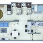 Planta Apartamento Tipo 3