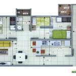 Plano Apartamento Tipo 5