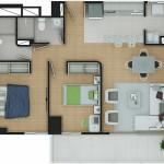 Plano Apartamento Tipo 10