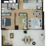 Plano Apartamento Tipo 3
