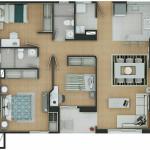 Plano Apartamento Tipo 7