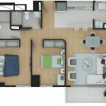 Plano Apartamento Tipo 8