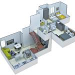 Isometría Apartamento Tipo 1 Duplex