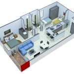 Isometría Apartamento Tipo 3