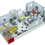 Isometría Apartamento Tipo 5